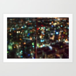 Skytower Bokeh Art Print