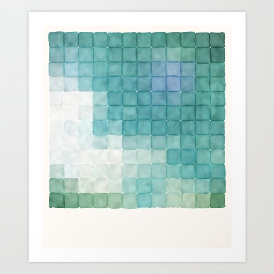 Polaroid Pixels IV (Clouds) Art Print