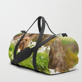 Summer Vibes - Small Yorkie Dog In Spring Forest #decor #society6 #buyart Duffle Bag