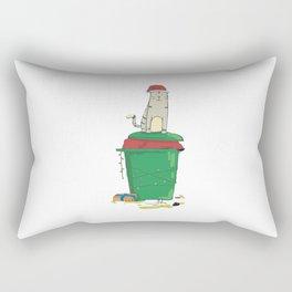 Beach Xmas Bin Cat Rectangular Pillow