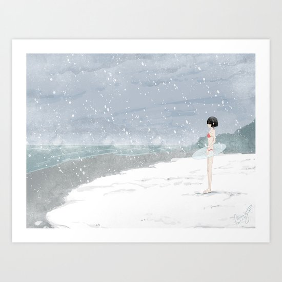 This is not the time for beach Art Print