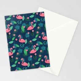 Flamingos & Plumeria Stationery Cards