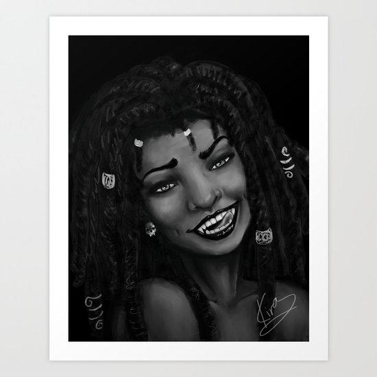 Loced Vamp Art Print