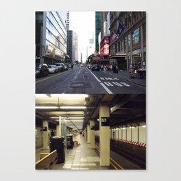 Above & Under ground New York Canvas Print