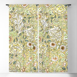 Yellow Double Bough by John Henry Dearle for William Morris Blackout Curtain