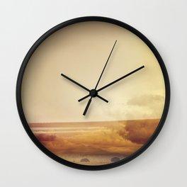 Modern Abstract Photography, Desert Landscape Wall Clock