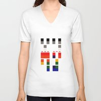 coldplay V-neck T-shirts featuring I Will Try To Fix You by Adel