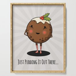 Just Pudding it Out There - Merry Christmas Serving Tray