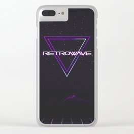 Retrowave Aesthetic Clear iPhone Case