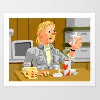 tintin Art Prints featuring Tintin in Carcosa by Chi Birmingham