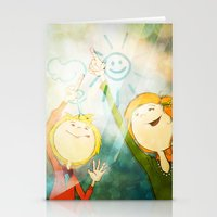 friendship Stationery Cards featuring Friendship by Tatiana Obukhovich