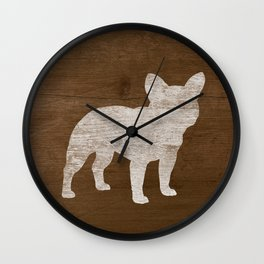 French Bulldog Silhouette(s) Wall Clock