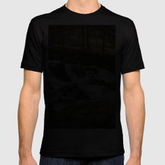 Trees and Water Mens Fitted Tee MEDIUM Black