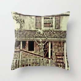 Don't Open The Window! Throw Pillow