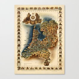 Map of Holland Canvas Print