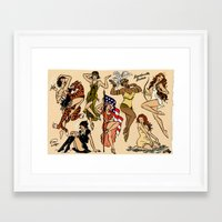 boardwalk empire Framed Art Prints featuring Goodbye Boardwalk Empire Pin-ups!! by Emma Munger