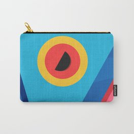 Summer Abstract Art Composition Blue and Pink Carry-All Pouch