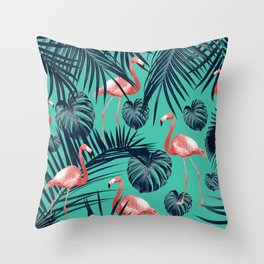 Tropical Flamingo Pattern #7 #tropical #decor #art #society6 Throw Pillow