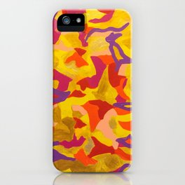 Crescent moon and birds iPhone Case