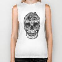 island Biker Tanks featuring Skull Island by Rachel Caldwell
