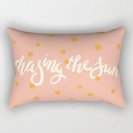 Chasing The Sun Rectangular Pillow