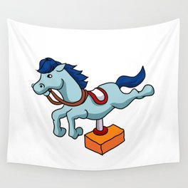 illustration of mechanical horse Wall Tapestry