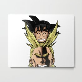 All Might & Goku - Symbols Of Peace Metal Print