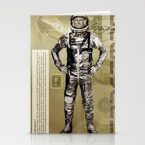 George Washington - Spaceman  Stationery Cards