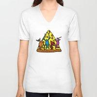 keith haring V-neck T-shirts featuring Haring - Ninja by Krikoui
