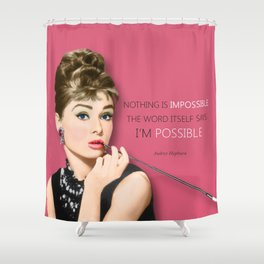 Movie star art - Audrey Hepburn Shower Curtain