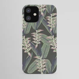 heliconia tropical print iPhone Case