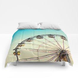 Vintage Ferris Wheel Comforters