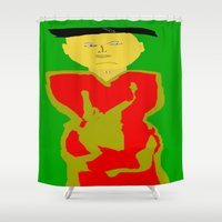 asia Shower Curtains featuring Asia by Happy Fish Gallery