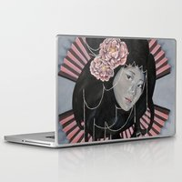 peonies Laptop & iPad Skins featuring Peonies by kaliwallace