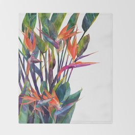 The bird of paradise Throw Blanket