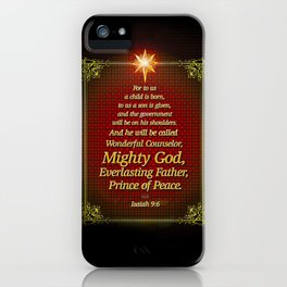 For to us a child is born . . . iPhone Case