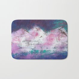 Pink Mountains Bath Mat