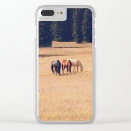 Montana Collection - Horses on the Ranch Clear iPhone Case