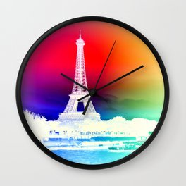paris. Other Side of the Rainbow Wall Clock