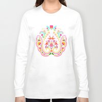 folk Long Sleeve T-shirts featuring folk damask by bachullus