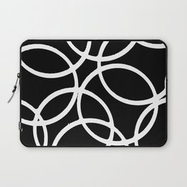 Interlocking White Circles Artistic Design Laptop Sleeve