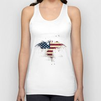 american flag Tank Tops featuring AMERICAN FLAG by Oksana Smith