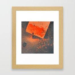 NVSV SPCS_orange concrete Framed Art Print