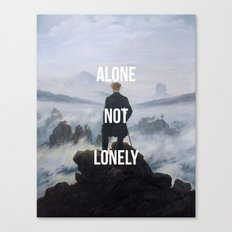 Alone Not Lonely Canvas Print