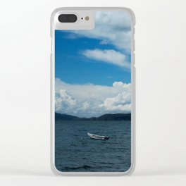 Titicaca lake raft Clear iPhone Case