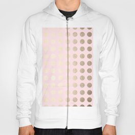 Simply Polka Dots White Gold Sands on Flamingo Pink Hoody