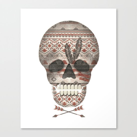 SKULL & ARROW  Canvas Print