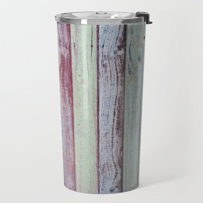 Color Wood Boards Travel Mug