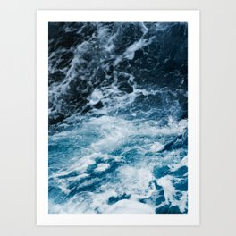 ocean, sea, blue print, blue art, photography, Art Print
