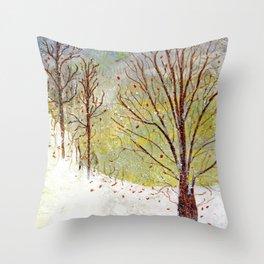 Spring Snow in Dewdrop Holler Throw Pillow